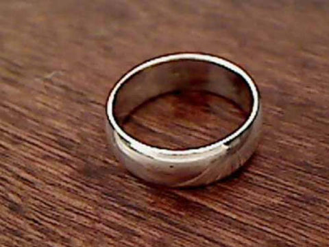 Size 6.75 Sterling Silver 6mm Band