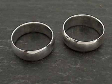 Size 6.5 Sterling Silver 6mm Hollow Band Ring