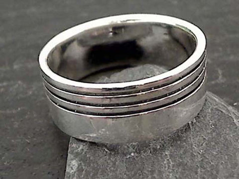 Size 6 Sterling Silver 8mm Ring
