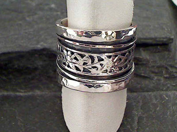 Size 10 Sterling Silver Spinner Ring