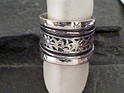 Size 7.75 Sterling Silver Spinner Ring