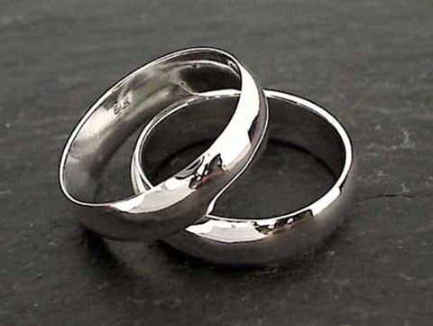Size 6.5 Sterling Silver 5mm Ring Band