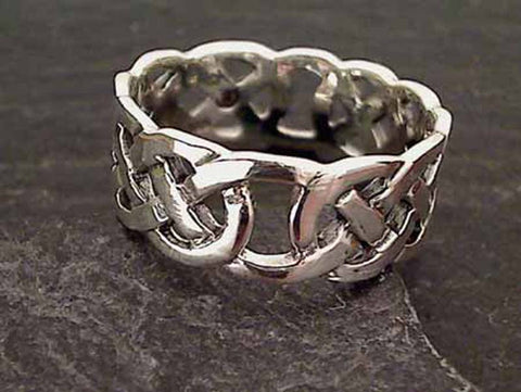 Size 13.5 Sterling Silver 9mm Celtic Ring