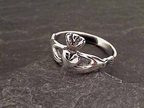 Size 4.75 Sterling Silver Claddagh Ring