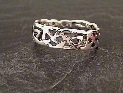 Size 14 Sterling Silver 6mm Celtic Ring