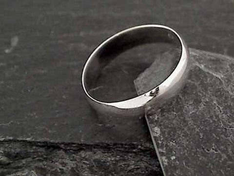 Size 14.75 Sterling Silver 5mm Ring