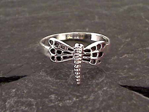 Size 6 Sterling Silver Dragonfly Ring