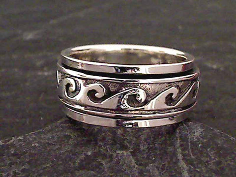 Size 5 Sterling Silver Wave Ring