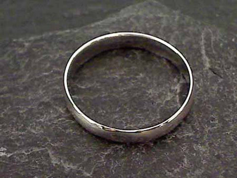 Size 5.75 Sterling Silver 3mm Hollow Band Ring