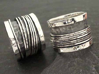 Size 11 Sterling Silver Spinner Ring