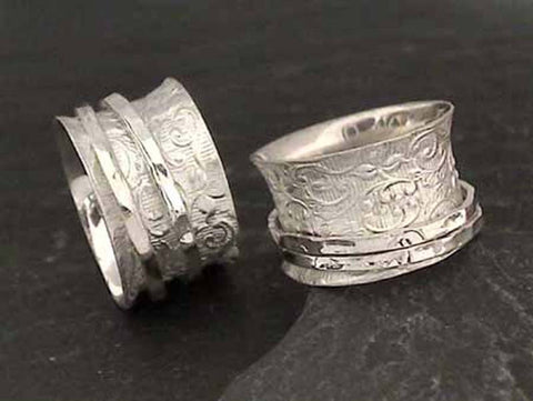 Size 9 Sterling Silver Spinner Ring