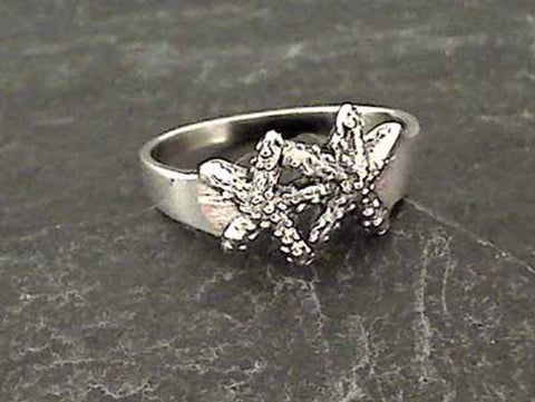 Size 5.5 Sterling Silver Starfish Ring