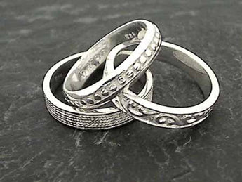 Size 5.75 Sterling Silver 3 Band Stacker Ring