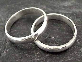 Size 13 Sterling 4mm X 1.75mm Ring
