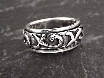 Size 5 Sterling Silver Spinner Ring
