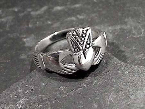 Size 5.5 Sterling Silver Claddagh Ring