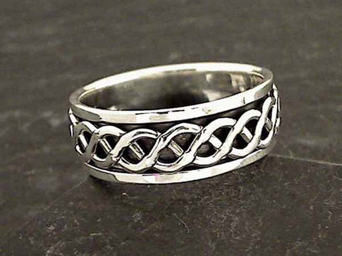 Size 15 Sterling Silver Celtic Spinner Ring