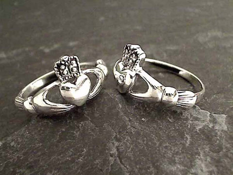 Size 5 Sterling Silver Claddagh Ring
