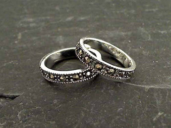 Size 4.5 Marcasite, Sterling Silver Ring