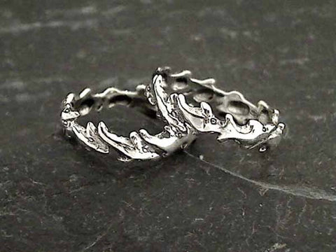 Size 7 Sterling Silver Dolphin Ring