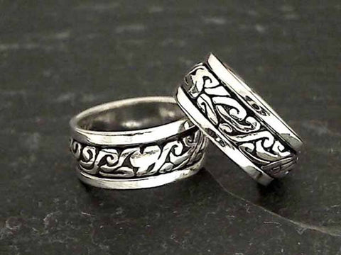 Size 4.5 Sterling Silver Spinner Ring