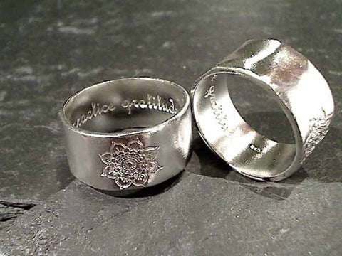 Size 6 Sterling Silver Lotus Ring