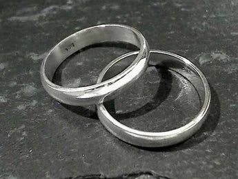 Size 11.5 Sterling Silver 5 x 1.75mm Ring