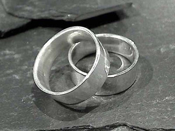 Size 11.5 Sterling 7.5mm x 1.25mm Ring