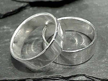 Size 13 Sterling Silver 8mm x 1.25mm Ring