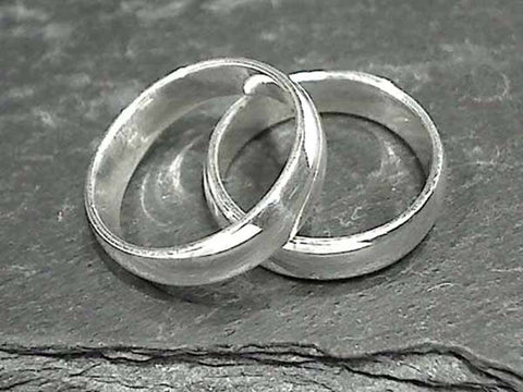 Size 5 Sterling 4.5mm X 1.25mm Ring