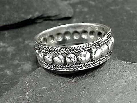Size 13 Sterling Silver 7.5mm x 1.5mm Ring