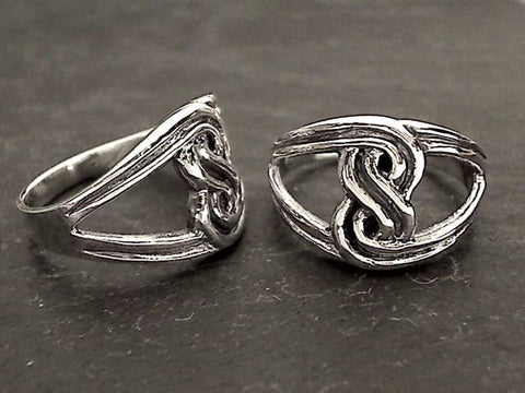 Size 6.75 Sterling Silver Celtic Style Ring