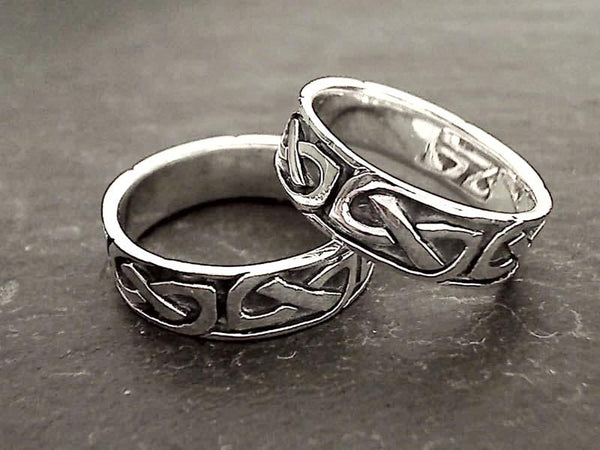Size 11.25 Sterling Silver Celtic Style Ring
