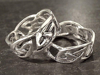 Size 10 Sterling Silver Celtic Style Ring