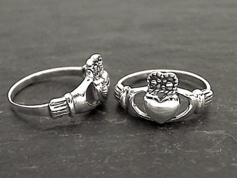 Size 8.75 Sterling Silver Claddagh Ring