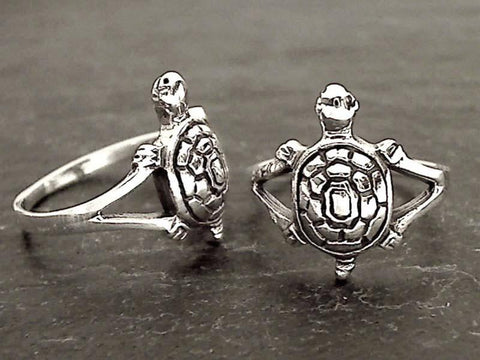 Size 6.5 Sterling Silver Sea Turtle Ring
