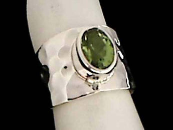 Peridot, Sterling Silver Ring - Size 8