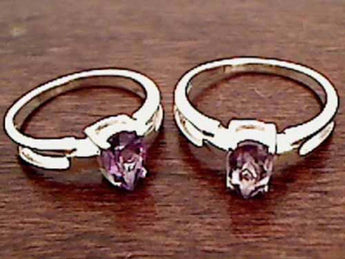 Size 9 Amethyst, .925 Ring
