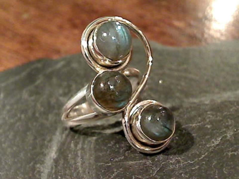 Size 6.25 Labradorite, Sterling Silver Ring
