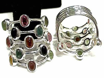 Size 7 Tourmaline, Sterling Silver Ring