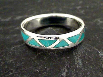 Size 14.5 Turquoise, Sterling Silver Ring