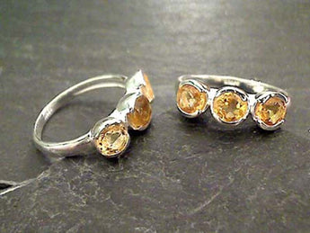 Size 6.75 Citrine, Sterling Silver Ring