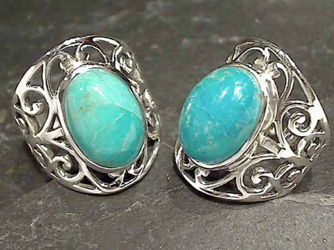 Size 9.5 Turquoise Sterling Silver Ring