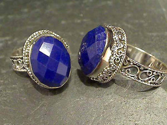 Size 9 Lapis Lazuli Sterling Silver Ring