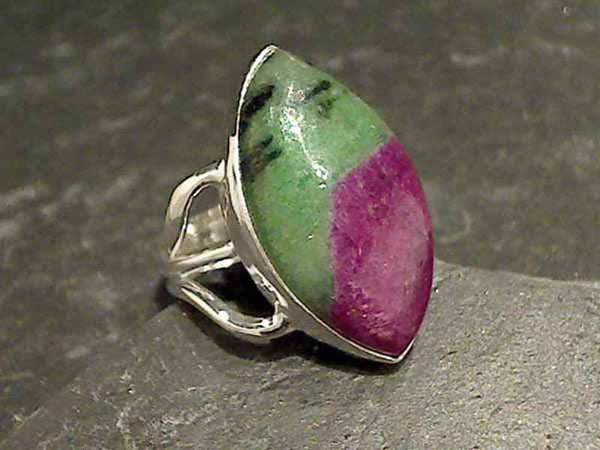 Size 5.25 Ruby in Zoisite Sterling Silver Ring