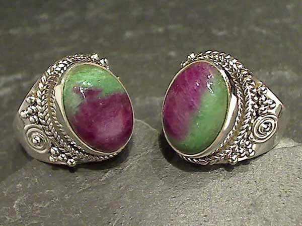 Size 5.5 Ruby in Zoisite Sterling Silver Ring