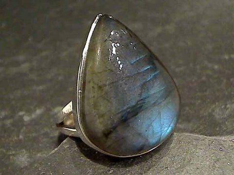 Size 9 Labradorite Sterling Silver Ring
