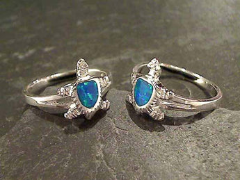Size 9.5 Created Opal, Sterling Silver Ring