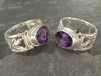 Size 6.25 Amethyst, Sterling Silver Ring