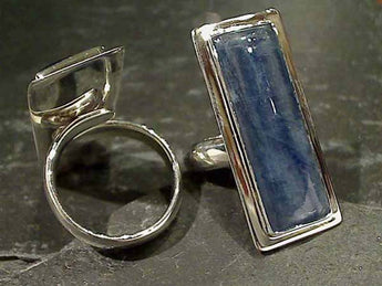 Kyanite Ring, Adj. Size 5mm Band
